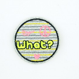 Glitter Nope iron-on patch