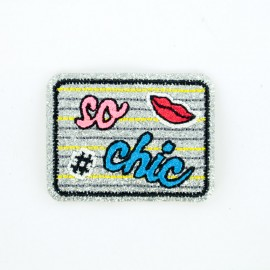 Glitter What? iron-on patch