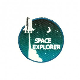 Space explorer iron-on patch