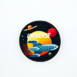 Space universe iron-on patch