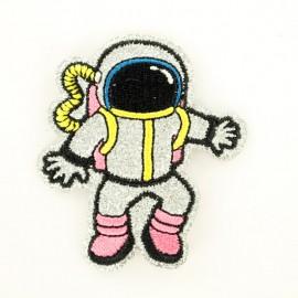 Glitter astronaut iron-on patch