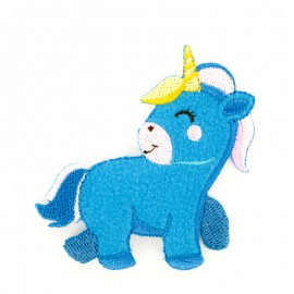 Thermocollant bébé licorne bleu