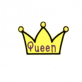 Queen crown iron-on patch
