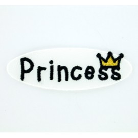 Princess heart iron-on patch