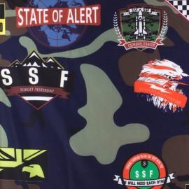 Tissu déperlant souple Army - marine x 40cm