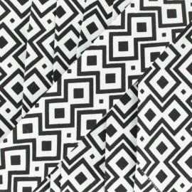 Biais Géométrique 30 mm - noir x 1m