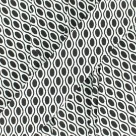 Biais Petit Ovale 30 mm - noir x 1m