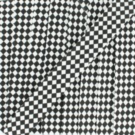 Biais Petit Damier 18 mm - noir x 1m