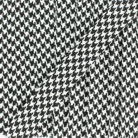Biais Petit Pied-de-poule 18 mm - noir x 1m
