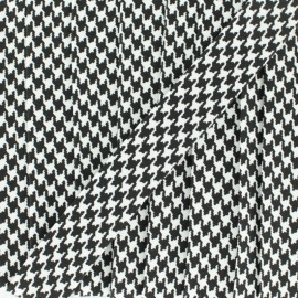 Bias binding Little Checkerboard 18 mm - black x 1m
