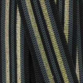 Ruban élastique rayé lurex Allure (50 mm) - gris doré x 1m