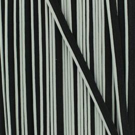 Passepoil bicolore polyester - gris/noir x 1m
