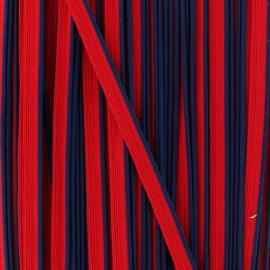Bicolor polyester piping - navy/red x 1m