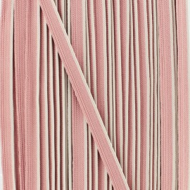Bicolor polyester piping - ancient pink x 1m