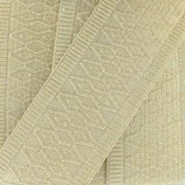 Ruban élastique Orient A (50 mm) - imprimé doré x 1m