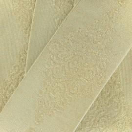 Ruban élastique Orient B (50 mm) - imprimé doré x 1m
