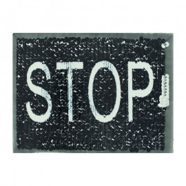 Double-sided on/off sewing sequin plaque