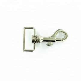 Round metal hook 30 mm - silver