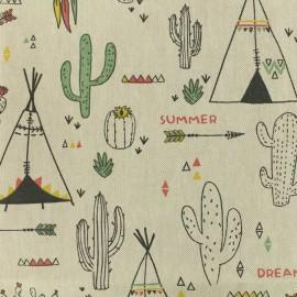 Cotton canvas fabric Chewonki - linen x 20cm