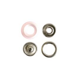 Bouton pression polyamide - rose
