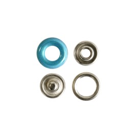 Bouton pression polyamide à griffes - bleu azur