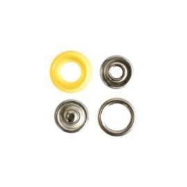 Bouton pression polyamide à griffes - jaune