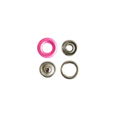 Polyamide snap button with claws - fuchsia
