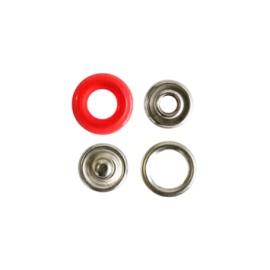 Bouton pression polyamide à griffes - rouge