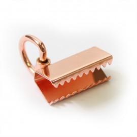 Embout sangle anneau 25 mm cuivre