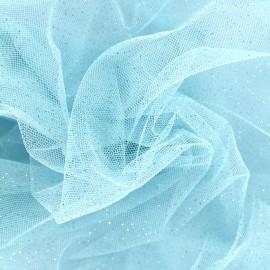 Tissu tulle pailleté Fairytale - ciel x10cm