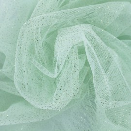 Luxury Sequined Tulle - mint x 10cm