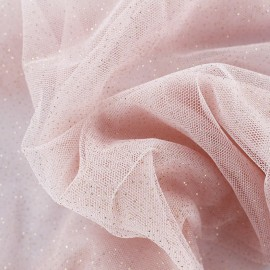 Luxury Sequined Tulle - pink blush x 10cm
