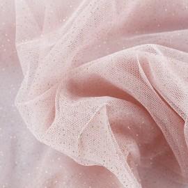 Tulle Haute qualité pailleté blush rose x10cm