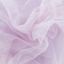 Luxury Sequined Tulle - baby pink x 10cm