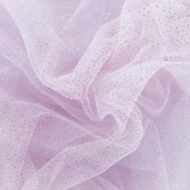 Tulle Haute qualité pailleté rose layette  x10cm