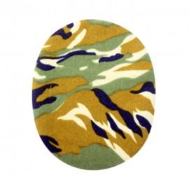 Genouillères-coudières thermocollantes camouflage - marron
