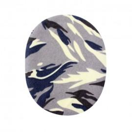 Genouillères-coudières thermocollantes camouflage - gris