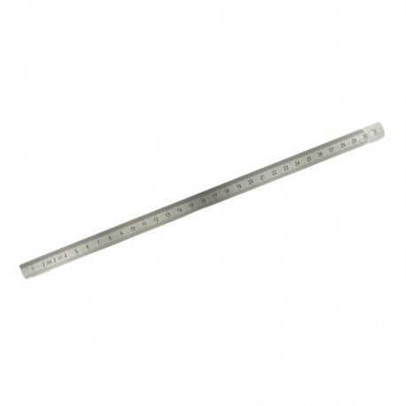 Small stainless steel ruler 50 cm - silver