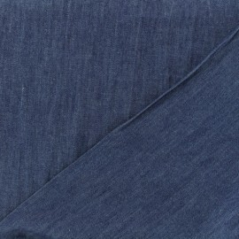 Tissu jeans fluide - aqua indigo x 10cm