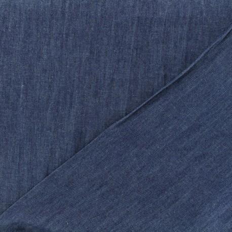 Tissu jeans fluide aqua indigo x 10cm