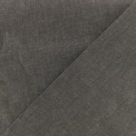 Tissu jeans fluide denim - noir x 10cm