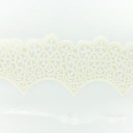 Ruban broderie sur tulle C - écru x 50cm