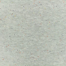 Tissu Oeko-Tex sweat moucheté gris clair x 10cm
