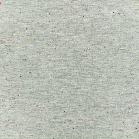 Oeko-Tex Flecked sweat fabric - light grey x 10cm
