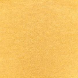 Tissu sweat léger chiné - tournesol x 10cm