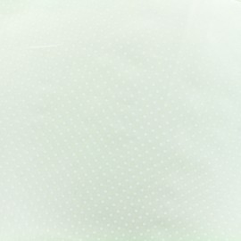 "Poplin cotton fabric ""Dotty"" - white x 10cm"