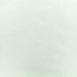 Tissu Popeline de coton Dotty - blanc x 10cm