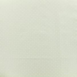 Tissu Popeline de coton Dotty - ecru x 10cm