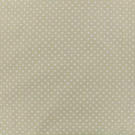 "Poplin cotton fabric ""Dotty"" - camel x 10cm"