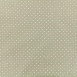 Tissu Popeline de coton Dotty - camel x 10cm